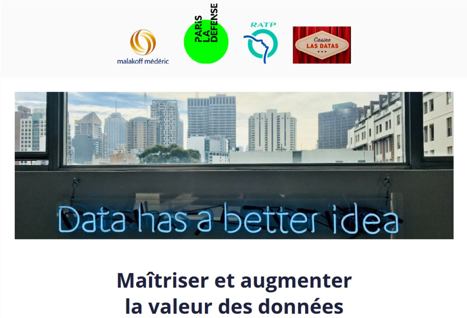 #GoldenData <br> La voie pour augmenter la valeur des données